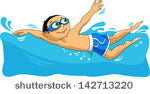 stock-vector-young-swimmer-takes-part-in-competitions-illustration-vector-142713220